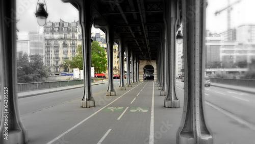 Bir-Hakeim Bridge Inception, Quai de Grenelle Paris, France Passy steel bridge over the River Seine  Photo by Matias