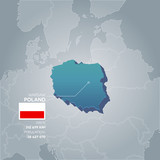 Poland information map.
