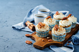 Carrot cinnamon cupcakes with pecan - 164213796