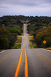 Vanishing point hilly road in Texas Hill Country