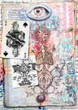 Esoteric graffiti and manuscipts with collages,symbols,draws and scraps - 164235388