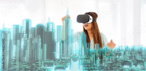 VR virtual tourism Poster