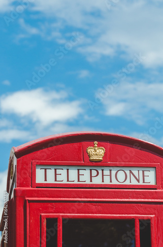 Traditional british telephone booth Poster