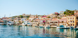 Chalki Island, one of the Dodecanese islands of Greece, close to Rhodes. - 164281785