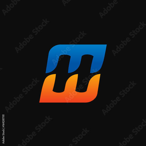 letter H, E Logo. speed logo design concept template