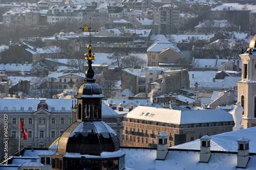 Vilnius winter panorama from Gediminas castle tower. Vilnius. Lithuania Photo by Evdoha