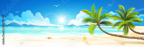 Summer holidays on tropical beach. Vector - 164291944