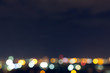 city night with dark sky, abstract blur bokeh light background - 164300976