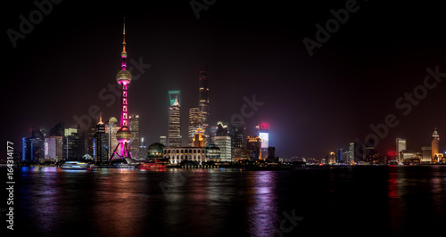 Aluminium Shanghai Night view of Shanghai
