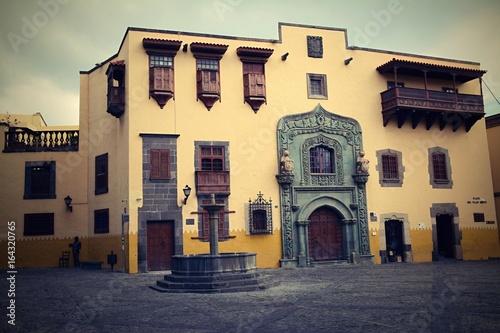 Deurstickers Canarische Eilanden Columbus House in Las Palmas, Gran Canaria, Spain