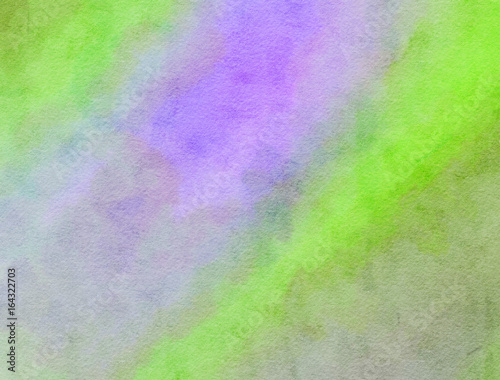 Lilac and Green Blended Watercolor Paint Texture