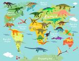 Mapa dinozaurów świata