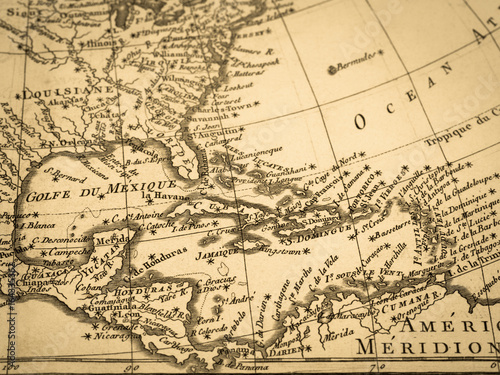 Fototapeta 古地図 中央アメリカ