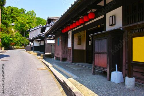 Deurstickers Kyoto 京都 奥嵯峨の鳥居本町の町並み
