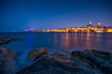 The city of valetta by night