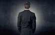 Businessman standing and thinking - 164344966