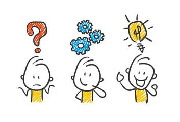 Strichfiguren / Strichmännchen: Business, Idee, Erfolg. (Nr. 29)