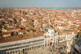 View of beautiful Venice from tower of campanile on San Marco square, Venice, Italy