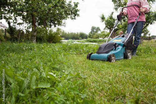 Closeup of grassmower