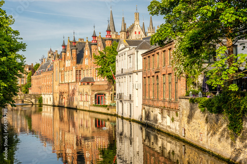 Staande foto Brugge Bruges (Brugge) cityscape with water canal