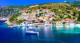 Amazing Greece series - beautiful colorful village Assos in Kefalonia - 164382398