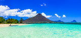 Beautiful Mauritius island with gorgeous beach Flic en flac - 164383136