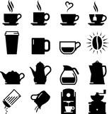 Coffee And Tea Icons - Black Series