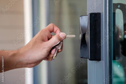 Open the door. Poster