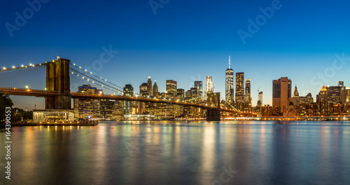 Brookly Bridge in the evening