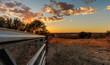 Sunset pasture