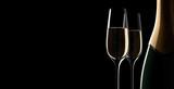 Champagner-Motiv im Querformat 2 - 164397317