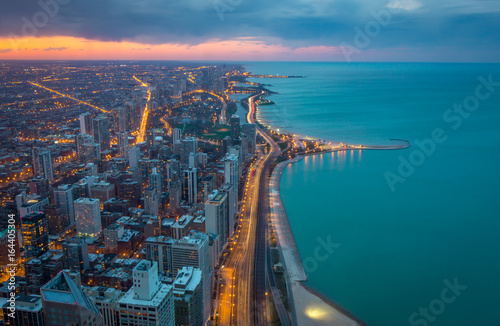Fotobehang Chicago North Shore Chicago