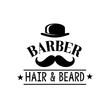 Hair and beard man barber shop vector icon