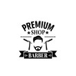 Premium barbershop salon vector mustaches icon