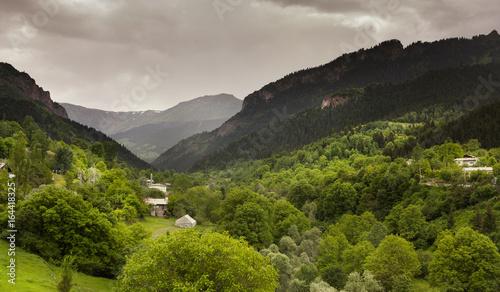 Blacklake local houses in sahara national park. Savsat - Turkey