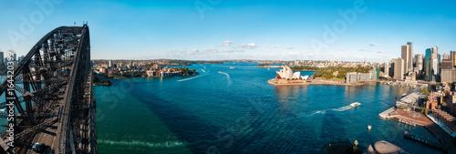 The Shadow of the Bridge over Sydney Harbour, Australia Poster