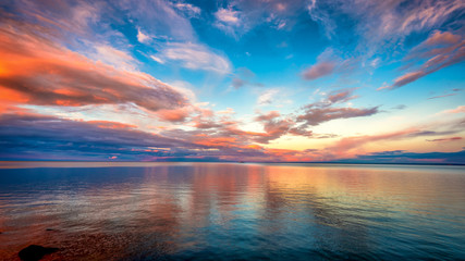 Sunset at Lake superior © Like