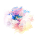 Watercolor illustration of sky with cloud. - 164421550