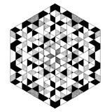 Geometric black and white mandala, abstract pattern, tattoo - 164423976