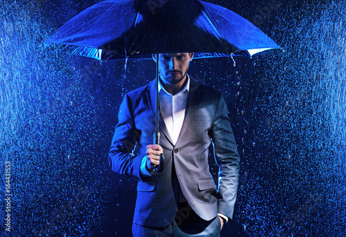 conceptual image of business issues - rainy day