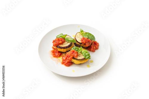 Foto Murales Mulegname 'mbuttunat, melanzane farcite, stuffed eggplants, Italian Food