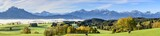 herbstliche Idylle im bayrischen Alpenvorland bei Roßhaupten