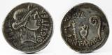 Roman Republic Coin. Ancient Roman silver denarius of Julius Caesar. - 164474377
