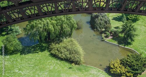 Garden view from Eiffel tower