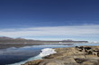 Beautiful view of the bay at Qikiqtarjuaq with mountains in the background, Broughton Island, Nunavu