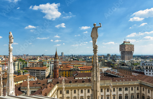 In de dag Milan Milan skyline, Italy