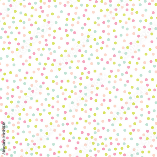 Pastel Rainbow Polka Dot Abstract Watercolor Background Texture  - 164501330