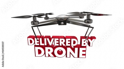 Delivered by Drone Automated Delivery Packages Shipping 3d Animation