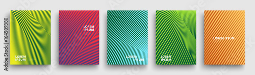 Simple Modern Covers Template Design. Set of Minimal Geometric Halftone Gradients for Presentation, Magazines, Flyers, Annual Reports, Posters and Business Cards. Vector EPS 10 - 164509380