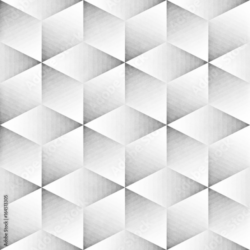 Seamless Monochrome Pattern. Grungy Geometric Shapes Tiling. - 164513305